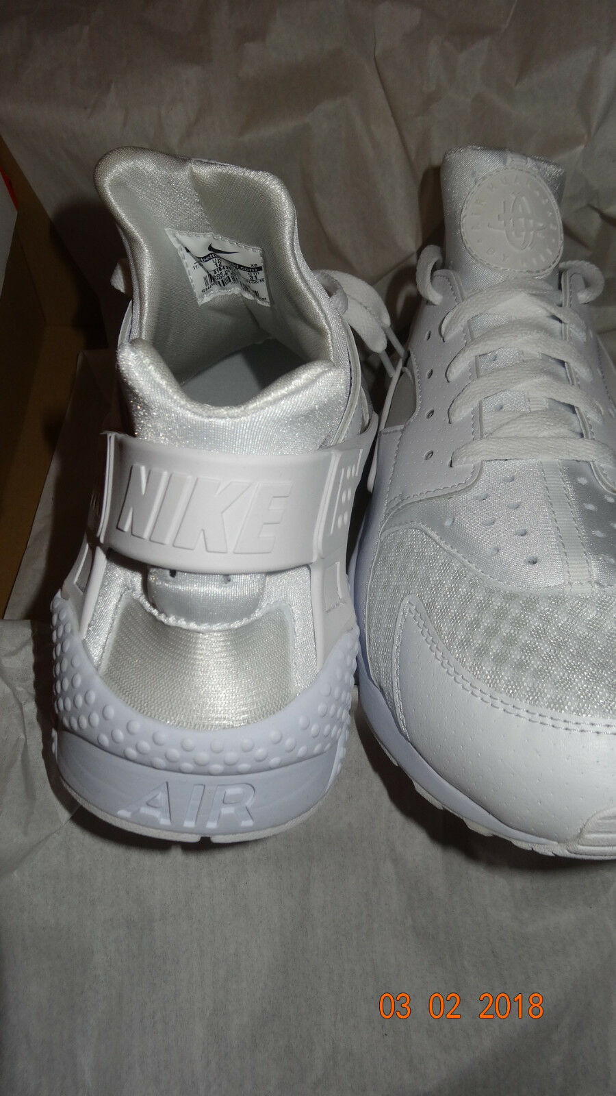 Nike Air Huarache weiß/weiß/platinTriple weiß/weiß/platinTriple weiß/weiß/platinTriple White weiss 47,5 47.5 13 681ac4