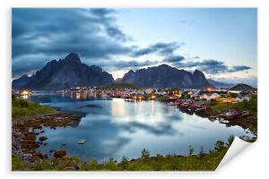 Postereck-Poster-0906-Lofoten-Norwegen-Reine-Fjord-Dorf-Wasser-Meer-Natur