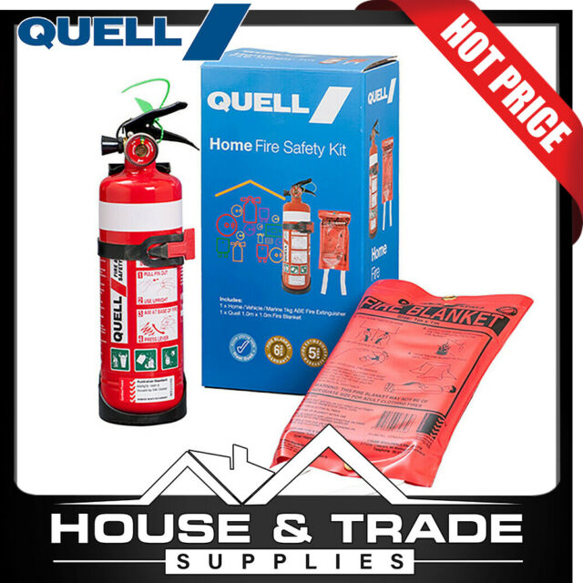 Quell Fire Safety Kit Small Home Extinguisher And Fire Blanket 130638