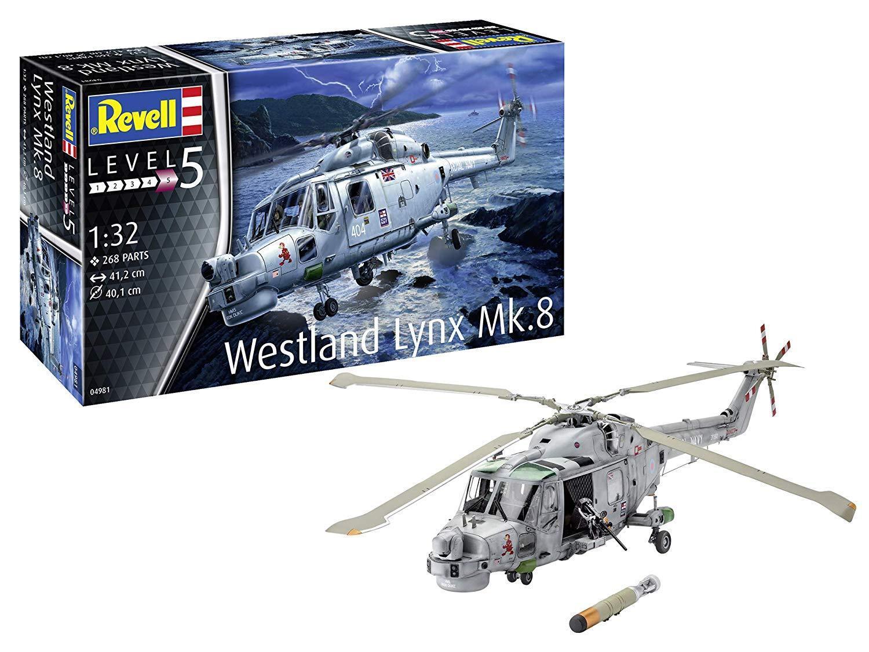 Revell 04981 Westland Lynx Mk. 8 Helicopter Model 1 3 2