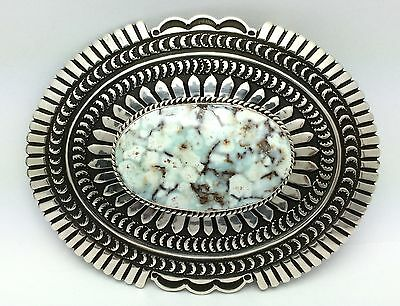 Andy Cadman Killer DRY CREEK Turquoise & Sterling ~SIGNED~ Belt Buckle