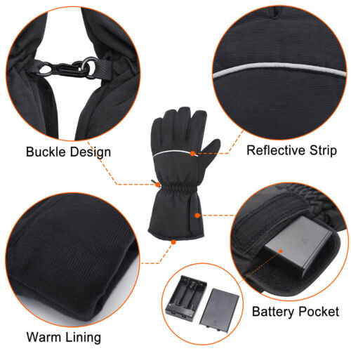 QILOVE Electric Battery Heated Winter Warmer Gloves,Motorcycle Hunting Outdoor