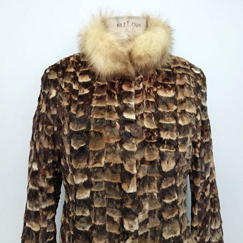 Pelliccia Donna In Vintage 7743 Tg Art m Giacca Di Visone E Volpe Reversibile atqEC6xwI