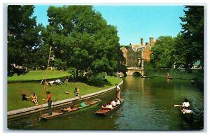 Postcard Cambridge The Backs and St John's College