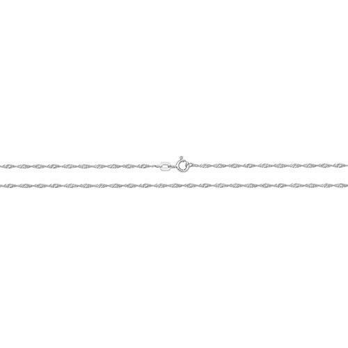 925 Sterling Silver FINE Light 1.5mm Singapore Twist Curb Chain Design Necklace