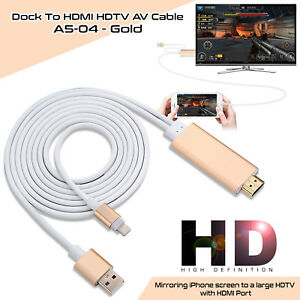 lightning connect to hdmi tv av cable adapter 2m for apple. Black Bedroom Furniture Sets. Home Design Ideas