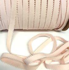 5 metres, pink 10mm picot edge knicker elastic