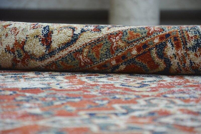 Épaisse et dense Tissé Tapis fleurs en laine
