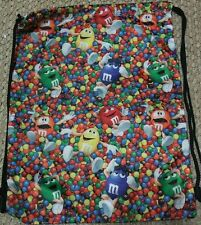 M&M Backpack Tote Bag Drawstring Multi-Colors Polyester  17 X 13