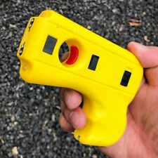 Striker 10 Mv Rechargeable Pistol Grip Stun Gun With Led Light Amp Safety Pin Yellow