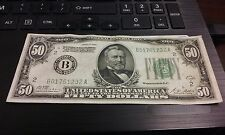 1928A $50 Dollar Bill Series Redeemable In Gold The Fed Reserve Bank of NY #28