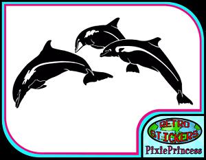Dolphin Jumping A Vinyl Sticker Car Wall Art Sign Poster Window Decal Bathroom