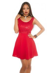 size 40 4ed10 ff8b0 Dettagli su Moda donna abito rosso o nero per festa party con corpetto in  paillettes