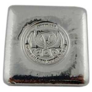 Hand Poured 5 Oz Silver Bar Quot Logo Square Quot Shinybars Ebay