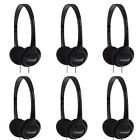 Lot of 6 Koss KPH7 Lightweigt Portable Headphones for MP3, Radio and more