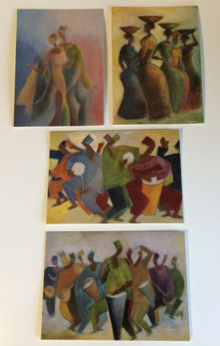 New Mill Pod Press Nnamdi Okonkwo African Cultural Greeting Card Set of 12
