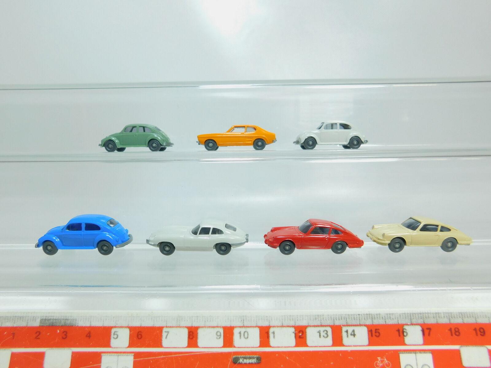 Bl437-0, 5 x Wiking H0   1 87 Car  VW   Volkswagen Beetle + Porsche 911 etc. ,