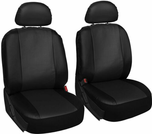MAZDA 3 Leather Look MAYFAIR Black FRONT Car Seat Covers