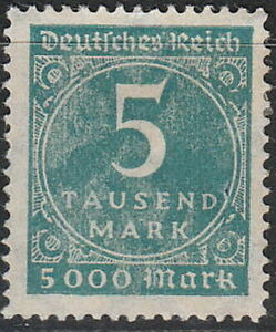 Stamp-Germany-Reich-Mi-274-Sc-238A-1923-Inflation-Number-Circle-Empire-MNH