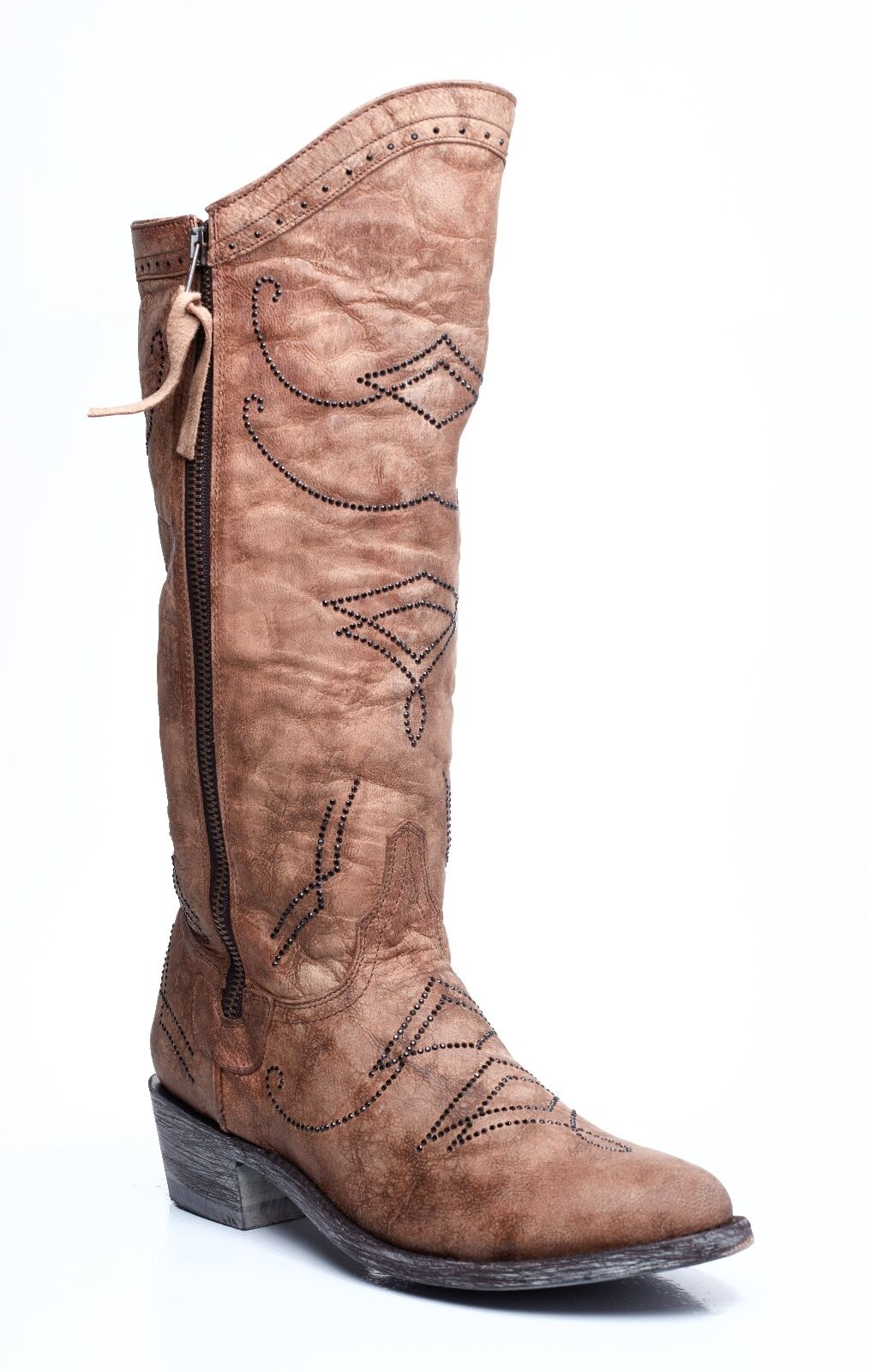 L2196-3-SS OLD GRINGO DULCE or  MADE WITH SWAROVSKI CRYSTAL LEATHER bottes