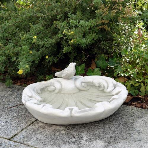Massive pietra personaggio potabile GUSCIO uccelli Vogeltränke Vogelbad in pietra colata frostfes