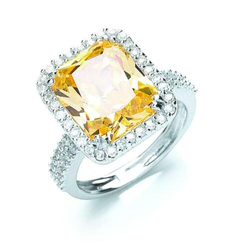 Sterling Silver Cubic Zirconia Dress Ring Large Sizes
