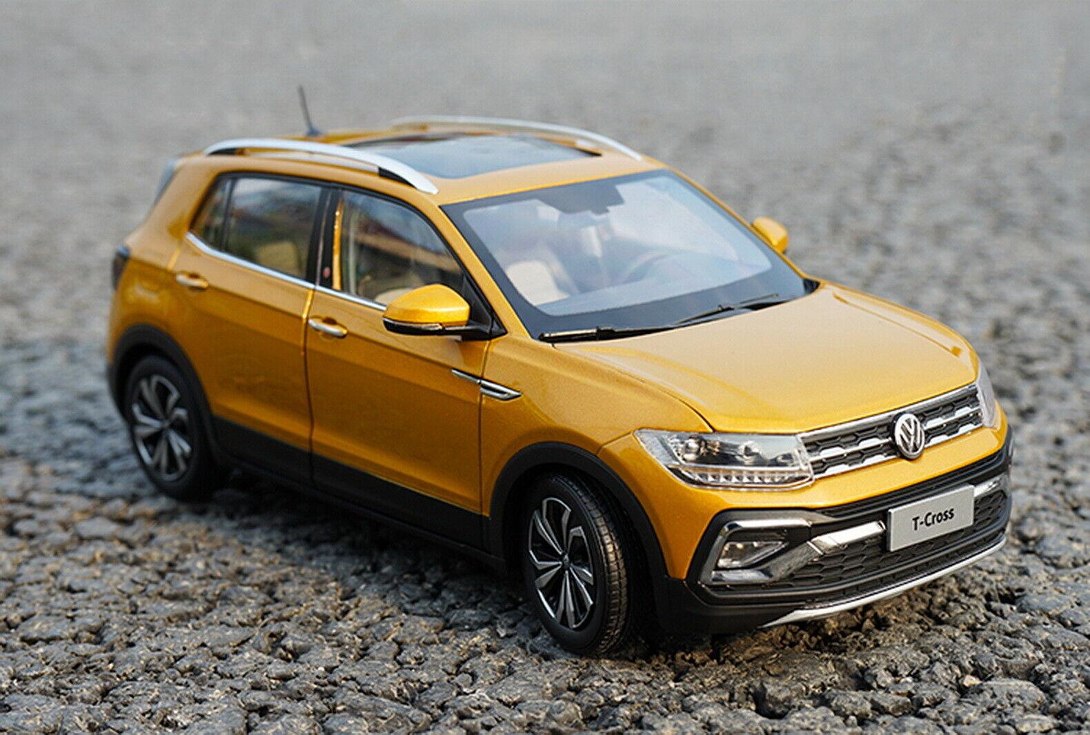 1 18 SCALA VW Volkswagen T-Cross Suv Diecast Modello Auto Giocattolo Collection
