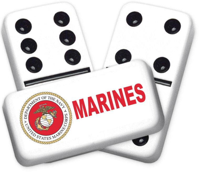 Career Series Marines Design Double six Professional Größe Dominoes