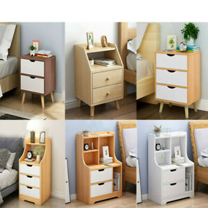 Wood-Bedroom-Bedside-Nightstand-End-Table-w-2-3-Drawer-Storage-Bedside-Table