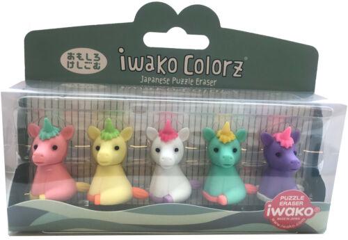 5 Variations IWAKO Japanese Animal Erasers Rubbers IWAKO Colorz Eraser Sets