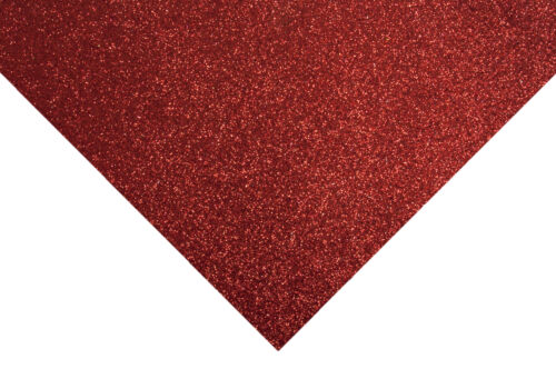 10x Glitter Felt Sheets 30x23cm Red Sewing Craft Tool Hobby Art UK Bulk Filoro