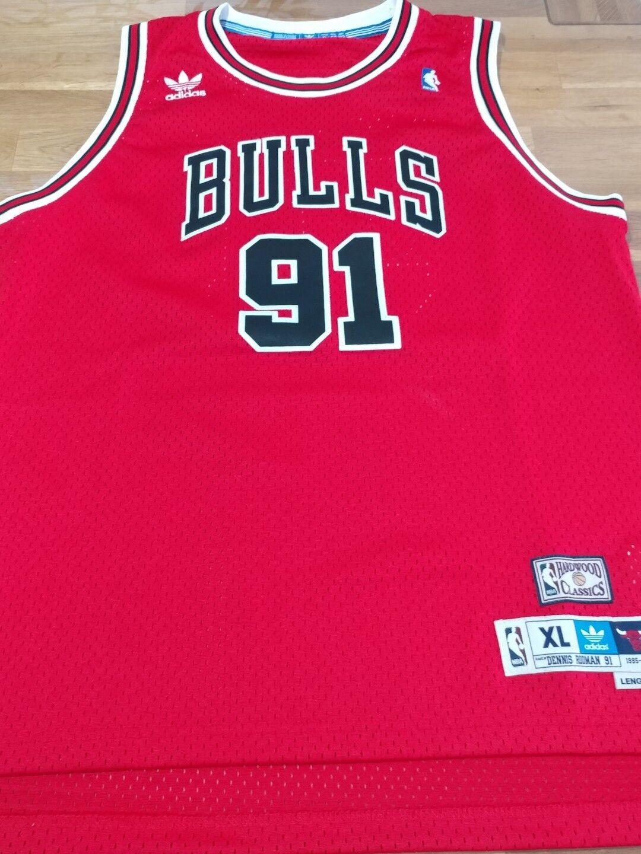 Authentic Adidas Hardwood Classic Bulls Rodman vgc.