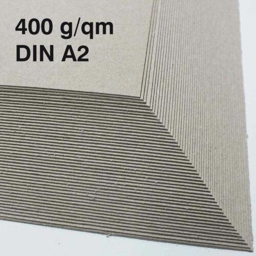 Maschinengraukarton Unterlegkarton 400 g//qm Graukarton ab 50 Stück DIN A2 0,6 mm