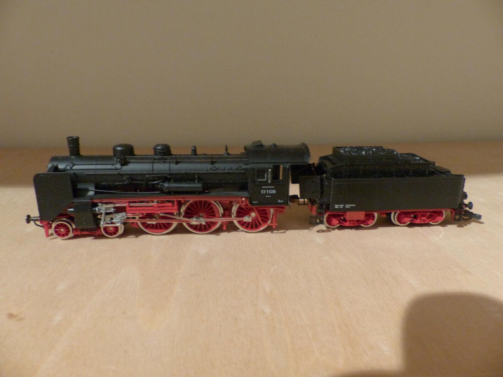 Roco 43214 , Dampfschlepp -Tenderlok BR 17 1128 DR , Spur H0  | Zart