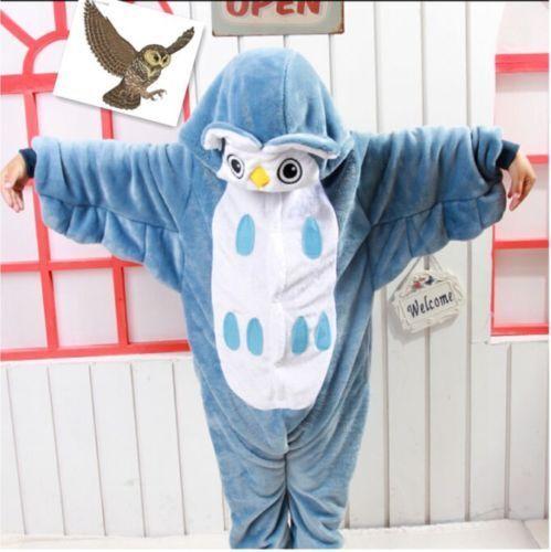 Hot sale kids Pajamas Kigurumi Unisex Cosplay Animal Costume  sleepwear!
