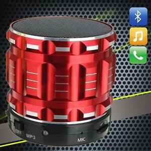 Wireless-Bluetooth-Speaker-Mini-SXIER-BASS-Portable-For-Smartphone-Tablet-Red-XI