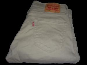 Hommes Levi's 511 Beige Slim Fit Jeans Extensible W32 L34