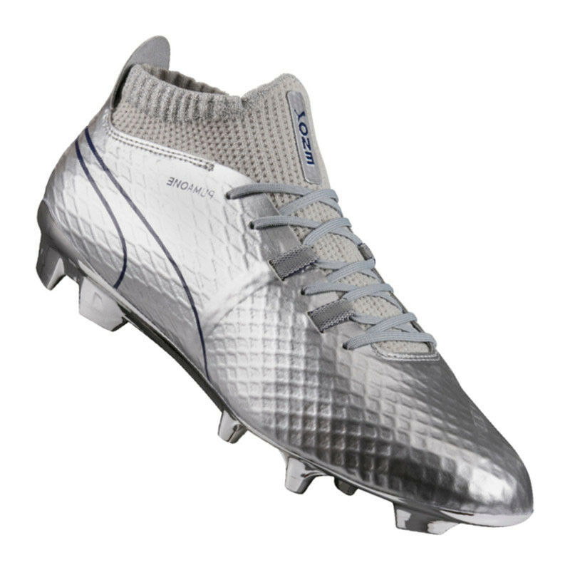 Puma one Chrome FG plata azul f01