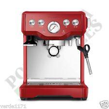 Breville Espresso Cappucino Infuser Cranberry Red Coffee Machine BES840CBXL