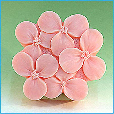 Lilac S062 Silicone Soap mold Craft Molds DIY Handmade soap mould