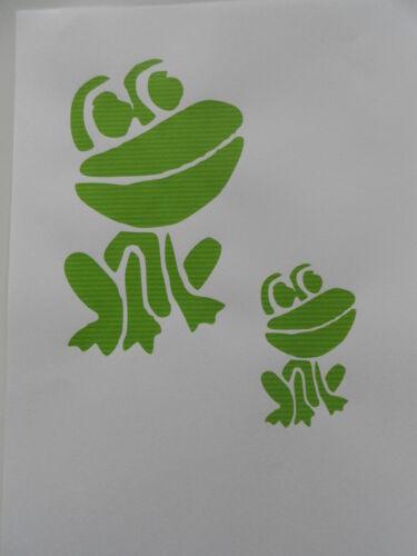 Schablone 2 x Frosch auf A4