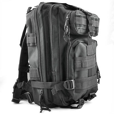 30L Mochila Militar Tactica para Senderismo Campamento al Aire Libre - Negro P7