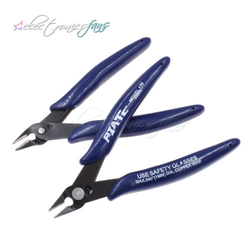 2PCS Elektrisch Wire Kabel Cutter Cutting Plier Side Snips Pliers Durable ASS