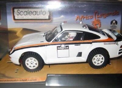 Kinderrennbahnen Intellective Scaleauto Sc-6090c Porsche 959 Raid Challenge Blanc 1/32 Neu
