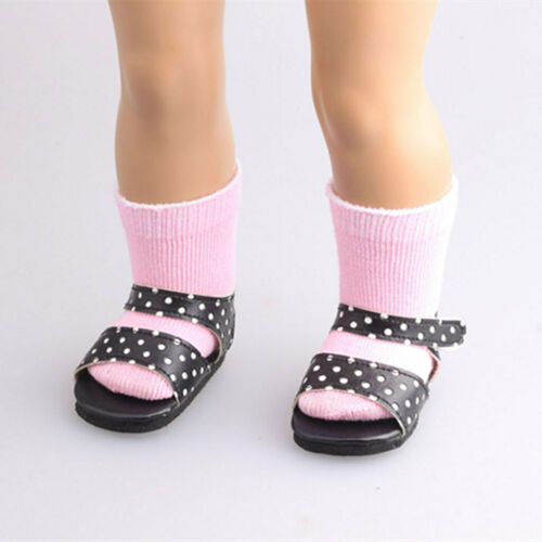 Handmade Pink Stocking Socks for 18 inch Girl Dolls Dress-up Accessories