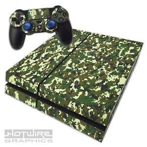 Playstation-4-PS4-Skin-Sticker-Kit-Coloured-Digital-Camouflage-Jungle-Camo