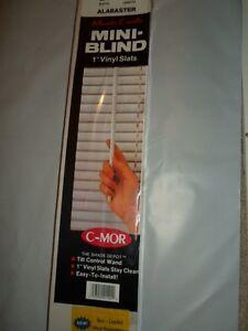 "MONTE CARLO C-MOR ALABASTER OFF-WHITE 1"" VINYL MINI-BLINDS 14""-30"" x 40""-76"""