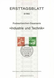 Germany ETB Ersttagsblatt 8/1982 Industry and Technology BERLIN 12