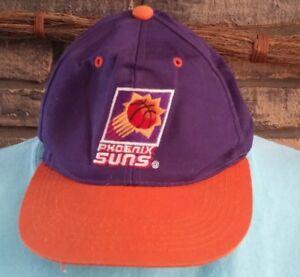 """75098ee6d Details about Vintage 90s Phoenix Suns Snapback Hat Baseball Purple NBA  """"The G Cap"""