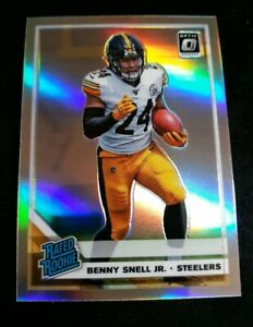 BENNY-SNELL-JR-2019-PANINI-OPTIC-RATED-ROOKIE-HOLO-SILVER-RC-185-STEELERS